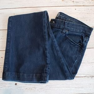 7 For All Mankind Jeans - Charlize Dark Wash Mid Rise Denim Jeans by 7FAM